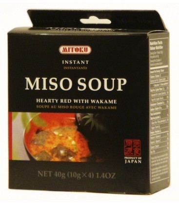 SOPA MISO c/WAKAME 4x10gr. mitoku