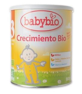 LECHE 3 CRECIMIENTO 12m. 3años 900gr. babybio