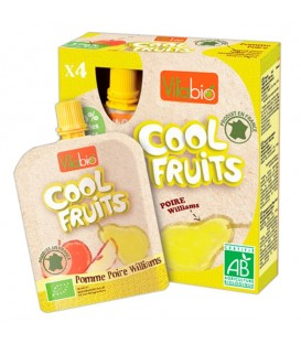 COOL FRUITS MANZANA PERA 4x90gr. kalibio