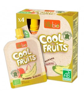COOL FRUITS MANZANA PLaTANO 4x90gr. kalibio