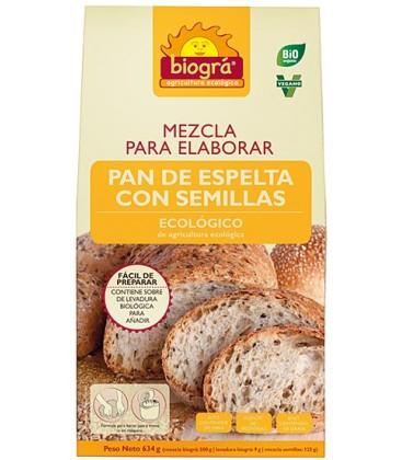 MEZCLA PAN ESPELTA SEMILLAS 500gr. biogra