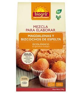 MEZCLA MAGDALENAS BIZCOCHOS 500gr. biogra