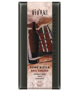 CHOCOLATE NEGRO 85% 100gr. vivani