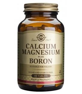 CALCIO MAGNESIO + BORO (huesos) 100cp. solgar