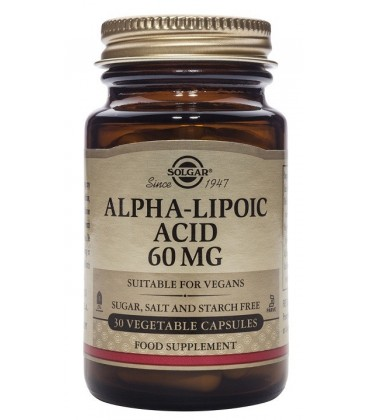 ACIDO ALFA LIPoLICO (diabetes) 60mg. 30cp. solgar
