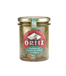 SARDINAS en ACEITE OLIVA fco. 190gr. ortiz