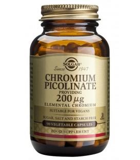 CROMO PICOLINATO (diabetes)  90cp. solgar