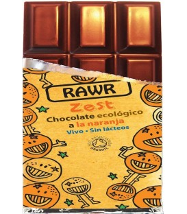 CHOCOLATE RAW FOOD NARANJA 60gr. rawbite