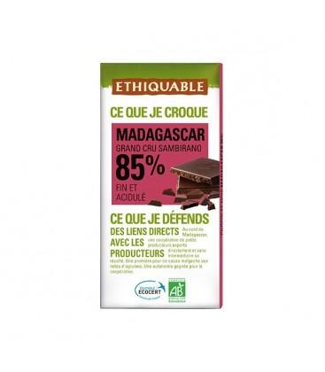 CHOCOLATE MADAGASCAR 85% cacao100gr.  ethiquable