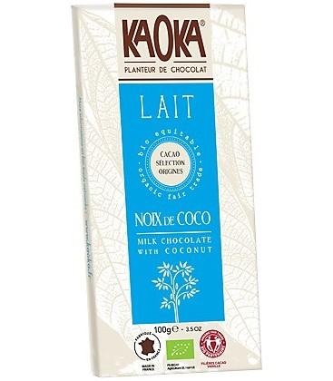 CHOCOLATE c/COCO 100gr. kaoka