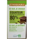 CHOCOLATE NEGRO  80% cacao 100gr. ethiquable