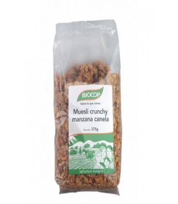 MUESLI CRUNCHY MANZANA CANELA 375gr. biocop