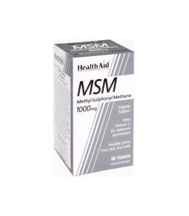 MSM 1000mg. + VITAMINA C 90cp. health aid