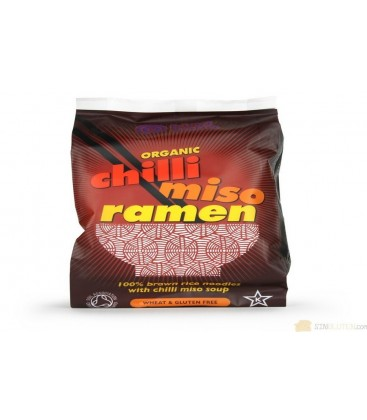 RAMEN ARROZ INTEGRAL MISO y CHILI 80gr. kingsoba