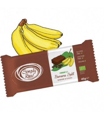 BROWNIE PLATANO/CACAO RAW 45gr. simply raw