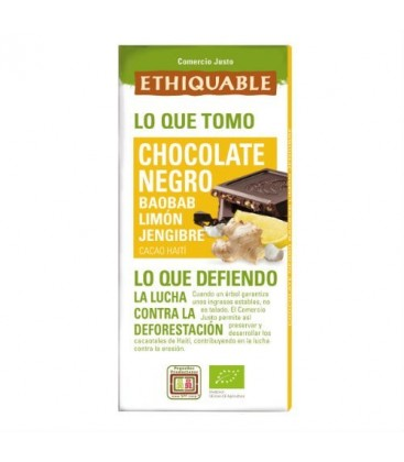 CHOCOLATE 72% BAOBAD/LIMA/JENG. 100gr. ethiquable