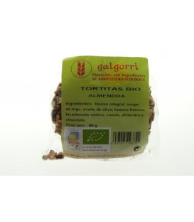 GALLETA CHOCOLATE y ALMENDRAS 90gr. galgorri
