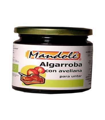 CREMA ALGARROBA c/AVELLANAS 375gr. mandole