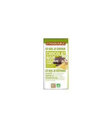 CHOCOLATE c/ JENGIBRE CONFITADO 100gr. ethiquable