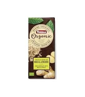 CHOCOLATE NEGRO MACA/JENGIBRE s/glu 100gr. torras
