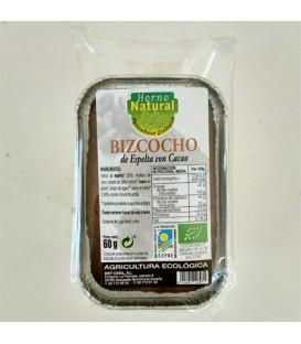BIZCOCHO ESPELTA CACAO 60 gr horno natural