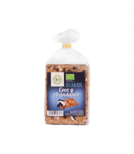 CRACKERS COCO Y ARANDANOS 200gr. sol natural