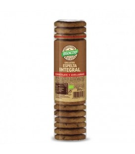 GALLETAS ESPELTA INT .CHOCO AVELLANA 250gr. biocop