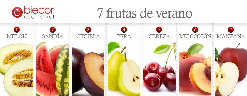 7 frutas de verano